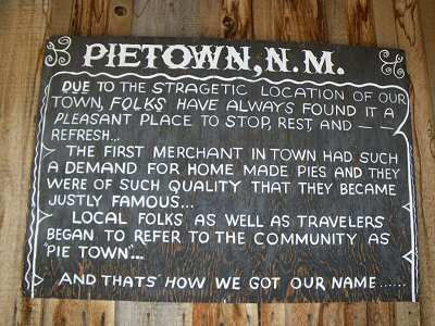 How Pie Town got its name.